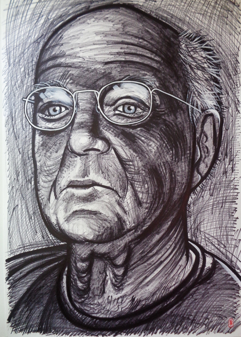 Portrait of artist Asher Bilu